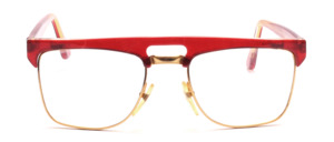 Goggles for men in gold with a red marbled upper edge and ironing