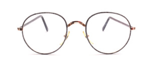 Possess Frame in gold with a gray-black patterned Windsor plaid and black plated temples