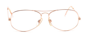 80s men's frame in gold with double bridge