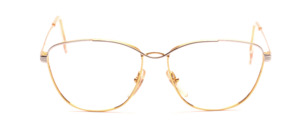 Feminine ladies frame from the 80s in bicolour gold with silver