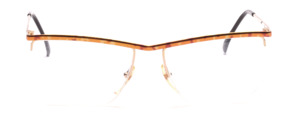 Nylor beam sunglasses for ladies in brown-gold marbled