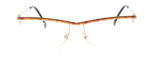 Nylor Balkenbrille für Herren in Braun-Gold marmoriert