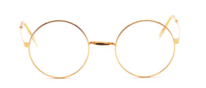 Featherlight, round saddle bridge eyeglasses by K&B