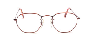 Metal frame in copper colors with engraved temples