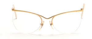 80s gold women's goggles in suggested cat eye shape