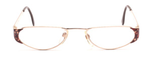 Elegant metal reading glasses in gold for women