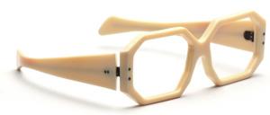 Statement Fassung aus kräftigem Acetat mit breiten Schläfenbügeln in Elfenbeinfarben