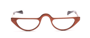 Crescent reading glasses in matt copper with straight temples