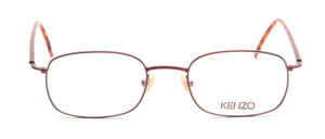 Thin metal frame in brown painted for men