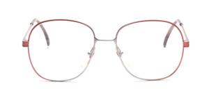 80er Jahre Damenfassung in Grau-Rosé Verlauf