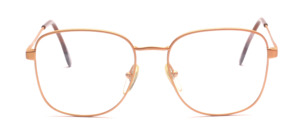 Oversized metal frame in matt gold for men