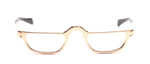 Men's reading glasses in gold aluminum with temples