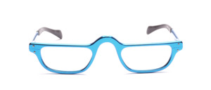 Men's reading glasses in royal blue with temples