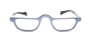 Men's reading glasses in matt blue jeans with temples