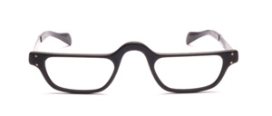 Men's reading glasses in matte black with temples