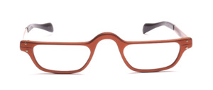 Men's reading glasses in matte copper with temples
