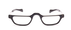 Men's eyewear in black aluminum with temples