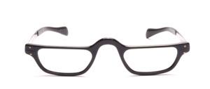 ELesebrille für Herren aus Aluminium in Schwarz mit Schläfenbügeln