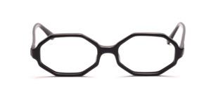 Achteckige 60er Jahre Brillenfassung für Damen in Schwarz