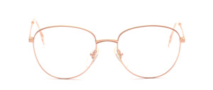 Ladies frame in matt gold in hinted Pantoform with ironing on top