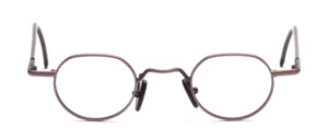 Panto-shaped metal frame in metallic purple with black-plated temples
