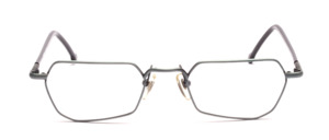 Metal frame in blue gray with black plated temples