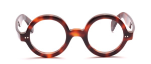 Thick round acetate glasses, inspired by an original of the 1930s