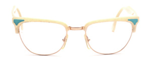 80s combi-fit for ladies in gold with white upper rim and straps