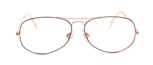 80s men's frame in gold with dark red glass rim and with double bridge