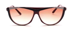 Schicke, extravagante Acetat Sonnenbrille der 80er Jahre