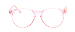 Transparent Rosafarbene Acetatfassung in Pantoform mit Schlüssellochsteg