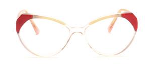 80er Jahre Cat Eye Brille für Damen in Transparent mit Weiß