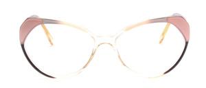 80er Jahre Vintage Cat Eye Brille für Damen in Transparent mit Weiß und Schwarz