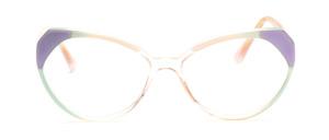 80er Jahre Cat Eye Brille für Damen in Transparent mit Pastellgrün