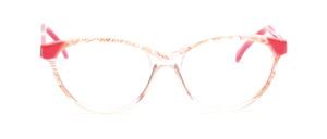 80er Jahre Cat Eye Brille mit pinken Akzenten und linken Bügeln