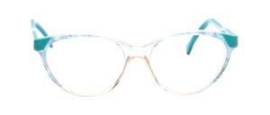 80er Jahre Cat Eye Brille mit grünen Akzenten und grünen Bügeln