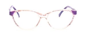 80er Jahre Cat Eye Brille mit Lila Akzenten und Lila Bügeln