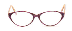 Damenbrille aus Acetat in matt Lila gemustert in leichter Cat Eye Form