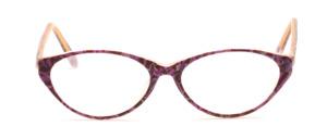 Damenbrille aus Acetat in matt Lila gemustert in leichter Cat Eye Form