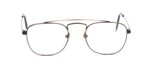 Men's frame with double bridge in antique gold with black
