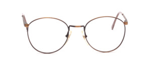 Classic metal goggles in antique gold with flexible hinge for better wearing comfort