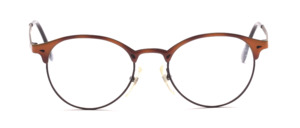 Black panto Frame with brown lacquered upper frame and straps