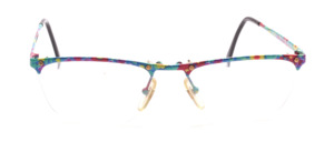 Rimless metal goggles with 2 screws per glass