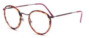 Panto Frame in red metallic with a colorful patterned inner cell ring