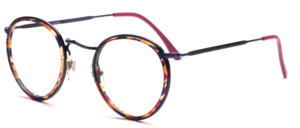 Panto Frame in purple metallic with a colorful patterned inner cell ring