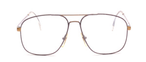 80's men's Frame in purple lacquered with gold accents