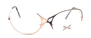 Very unusual nylor Frame for ladies in gold and black with the nylon thread on top of the glass and once on the bottom of the glass
