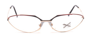 Fancy ladies frame in gold with decor in white, black and red