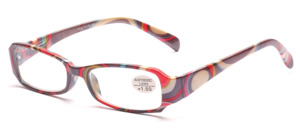 Gray-colorful ready-made glasses with flexible hinge