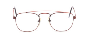Men's frame with double bridge in matt copper colors